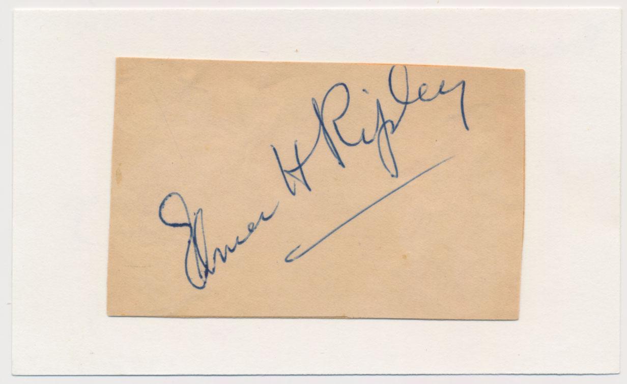 Lot #771  Cut  Ripley, Elmer Cond: 9