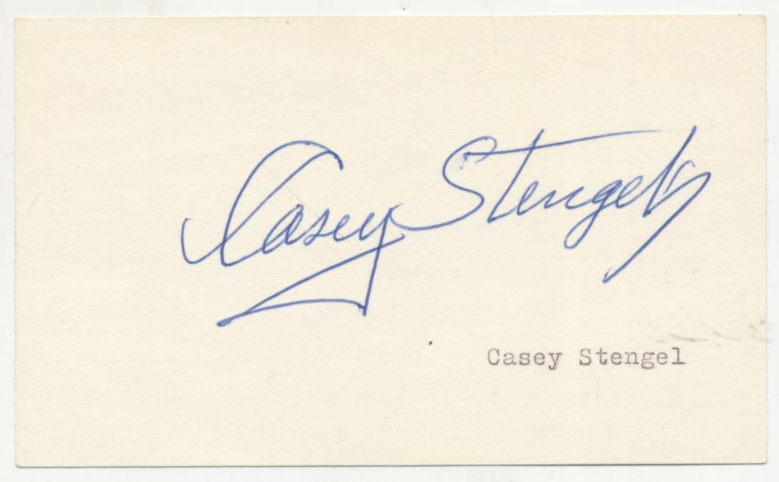 Lot #41  3 x 5  Stengel, Casey Cond: 9.5