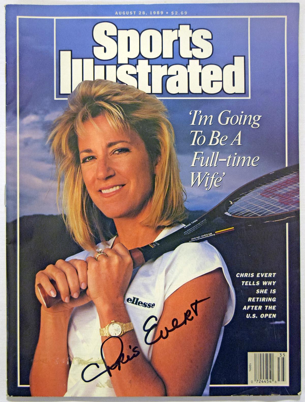 Program  Evert, Chris Signed 1989 S.I. 9.5
