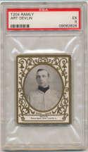 1909 T204 Ramly 35 Art Devlin PSA 5