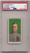 1909 T206 94 Cobb (portrait, green bckgrnd) PSA 1.5