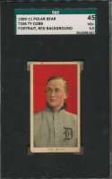 1909 T206 95 Cobb (portrait, red bckgrnd) SGC 3.5