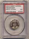 1910 Sweet Caporal Pins 133.2 Tris Speaker (large letters) PSA 7