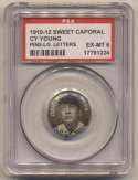 1910 Sweet Caporal Pins 155.2 Cy Young (large letters) PSA 6