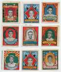 1911 Helmar Stamps  Collection of 9 different w/1 HOFer VG