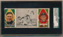 1912 T202 Triple Folders 75.1 Ty Cobb Steals Third (Cobb, Jennings) SGC 1.5