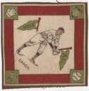 1914 B18 Blanket 28.2 Chick Gandil (green pennants) Ex-Mt