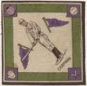 1914 B18 Blanket 14.1 Ray Chapman (purple pennants) Ex-Mt