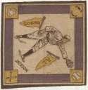 1914 B18 Blanket 39.2 Shoeless Joe Jackson (yellow pennants) Ex