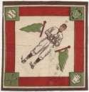 1914 B18 Blanket 41.2 Walter Johnson(green pennants) Ex