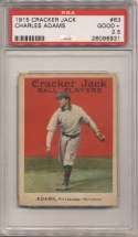 1915 Cracker Jack 63 Adams PSA 2.5