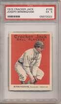 1915 Cracker Jack 106 Birmingham, Clev AL PSA 5
