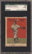 1915 Cracker Jack 32 Mordecai Brown SGC 1