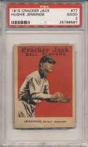 1915 Cracker Jack 77 Jennings PSA 2