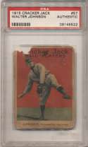 1915 Cracker Jack 57 Johnson PSA Authentic