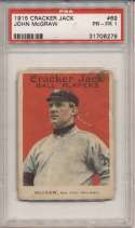 1915 Cracker Jack 69 McGraw PSA 1