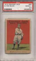 1915 Cracker Jack 56 Milan, Wash AL PSA 2.5