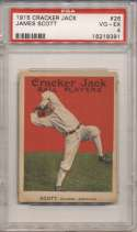 1915 Cracker Jack 26 Scott PSA 4