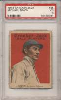 1915 Cracker Jack 25 Simon, StL Fed PSA 3