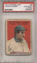 1915 Cracker Jack 68 Wagner PSA Authentic