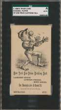 1880 Trade Card  NY One Price Clothing Hall Baseball Player SGC Authentic