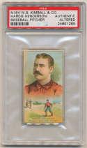 1887 N184 Kimball  Henderson PSA Authentic