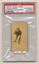 1887 N172 Old Judge  Curtis, Tacks PSA Authentic