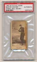 1887 N172 Old Judge  Hoover, Buster (Philly) PSA Authentic