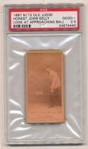 1887 N172 Old Judge  Kelly, Honest John (umpire) PSA 2.5
