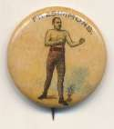 1897 Whitehead & Hoag Pin  Bob Fitzsimmons NM
