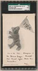 1906 V.O. Hannon   1906 Cubs Postcard w/ball & pennant SGC 1