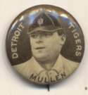 1910 Sweet Caporal Pins 108.1 George Mullen (Mullin) (small letters) Ex-Mt
