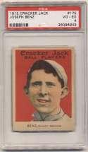 1915 Cracker Jack 175 Benz, Chi AL PSA 4