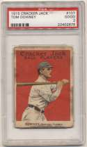 1915 Cracker Jack 107 Downey, Buffalo Fed PSA 2