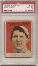 1915 Cracker Jack 175 Benz, Chi AL PSA 4