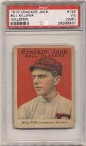 1915 Cracker Jack 135 Killifer, Phi NL PSA 3 mk