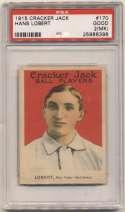 1915 Cracker Jack 170 Lobert, NY NL PSA 2 mk