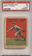 1915 Cracker Jack 54 OToole, Pitt NL PSA 1.5 mk