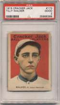 1915 Cracker Jack 173 Walker, StL AL PSA 2