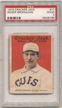 1915 Cracker Jack 17 Bresnahan PSA 2