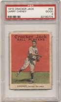 1915 Cracker Jack 89 Cheney, Chi NL PSA 2