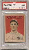 1915 Cracker Jack 10 McInnis, Phi AL PSA 2