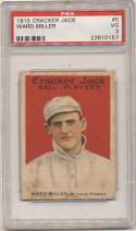 1915 Cracker Jack 5 Miller, StL Fed PSA 3