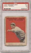 1915 Cracker Jack 15 Russell, Chi AL PSA 3