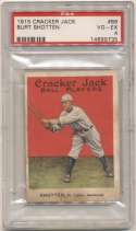 1915 Cracker Jack 86 Shotten, StL AL PSA 4