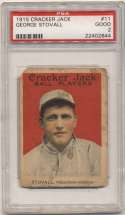 1915 Cracker Jack 11 Stovall, KC Fed PSA 2