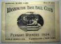 1924 WSP  At Washington VG