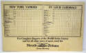 1928   NY Herald Tribune World Series Scorecard VG-Ex