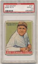 1933 Goudey 181 Ruth PSA 2.5