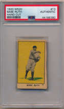1920 W520 13 Babe Ruth PSA Authentic